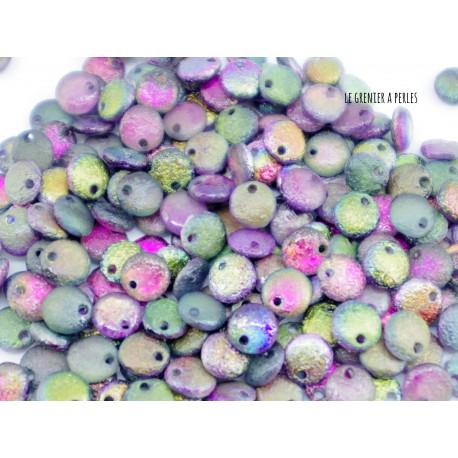 Lentilles 6 mm Etched Crystal Magic Purple ( 95500E )