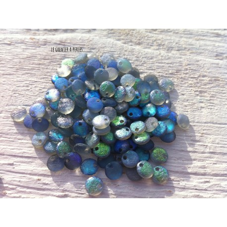 Lentilles 6 mm Etched Crystal Blue Rainbow ( 98588 )