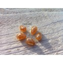 Perles Gouttes 12 x 8 mm Pêche Irisé X 5
