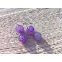 Perles Rondes 10 mm Mauve Marbré