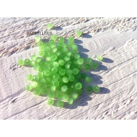 Perles Abacus 3 mm Perdidot Opal  X 50