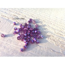 Toupies 4 mm Metallic Purple X 50