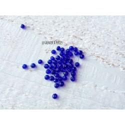 Perles Abacus 3 mm Bleu Cobalt X 50