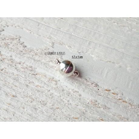 1 Fermoir Magnétique Argenté 1.7 x 1 cm