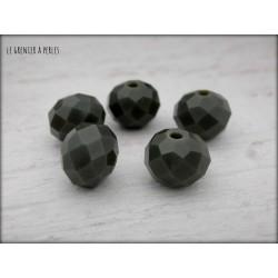 Perles ABACUS 10 mm Kaki Foncé x 5