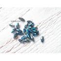 Perles Ogives Facettées Bleu AB * 4 x 8 mm ( 10 perles )