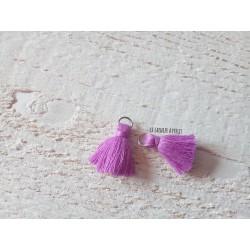 2 Petits Pompons coton * Lila * 2 cm
