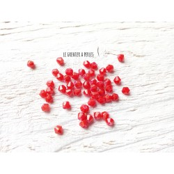 Toupies 4 mm Rouge Pailleté  X 50
