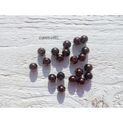 Perles Rondes 8 mm Nacrées Marron  x 20