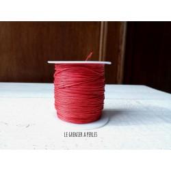 Coton Ciré Rouge x 5 mètres
