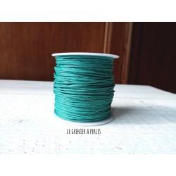 Coton Ciré Green Turquoise x 5 mètres