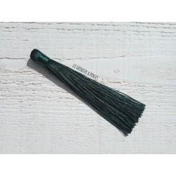 Grand pompon en coton * Vert Emeraude 12 cm