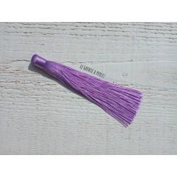 Grand pompon en coton * Mauve 12 cm