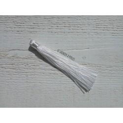 Grand pompon en coton * Blanc 12 cm