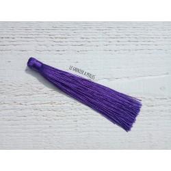 Grand pompon en coton * Violet 12 cm