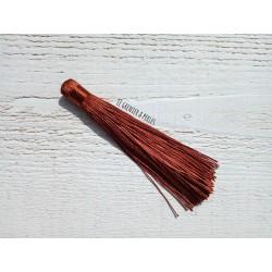 Grand pompon en coton * Caramel 12 cm