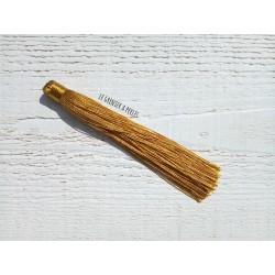 Grand pompon en coton * Doré 12 cm