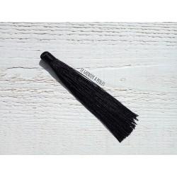 Grand pompon en coton * Noir 12 cm