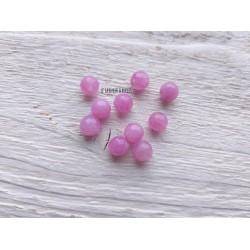 Perles Jade * Rose * 6 mm X 10