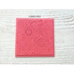 """Plaque de texture """" Floral """" pour pâte polymère"""