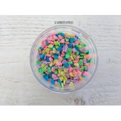Décorations en polymère * Coeurs Multicolore X 5 grammes