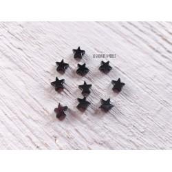 Perles Etoile6 mm * Métal Hématite