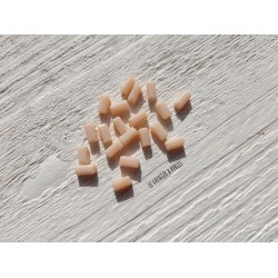 Perles Rectangles 7 x 3 mm Beige