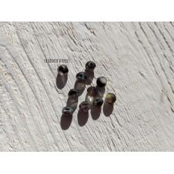 Perles CUBES 5 mm Noir AB x 10