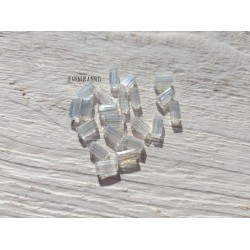 Perles Rectangles 7 x 3 mm Cristal AB