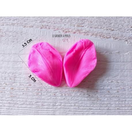 Moule Fleur Tulipe  * Moule silicone pour pâte polymère