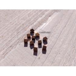 Perles Cubes 4 mm * Hématite galvanisé Copper