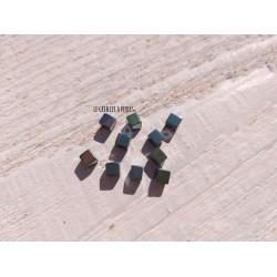 Perles Cubes 4 mm * Hématite galvanisé Vert