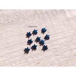 Perles Etoile 6 mm * Hématite Bleu