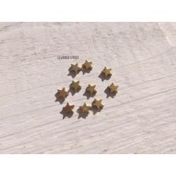 Perles Etoile 6 mm * Hématite Dark Gold