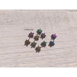 Perles Etoile 6 mm * Hématite Pétrole