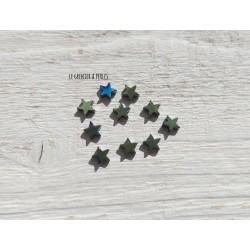 Perles Etoile 6 mm * Hématite Vert