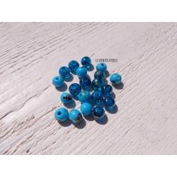 Perles Verre * Camaïeu de Bleu * LOT