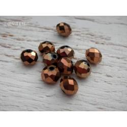 Perles ABACUS 8 mm BRONZE X 10
