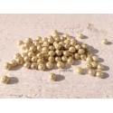 10 Perles Rondelles Tchèques 5 x 7 mm * Ivoire & Mercure * Czech Rondelles