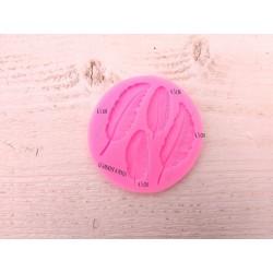 Moule Plumes * Moule silicone pour pâte polymère