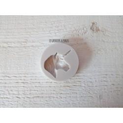 Moule Licorne * Moule silicone pour pâte polymère