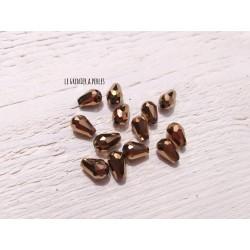 5 Perles Gouttes 12 x 8 mm Bronze