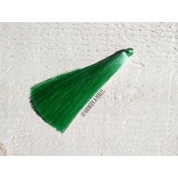 1 Grand pompon de luxe en soie * Vert Pastel 12 cm