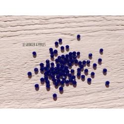 50 Perles Abacus 3 mm Cobalt Opaque