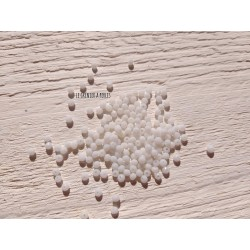 50 Perles Abacus 3 mm Blanc Opaque