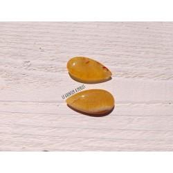 1 Pendentif Goutte Mandarine * Dragon's Veins * 30 x 15 mm * AGATE