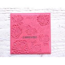 """Plaque de texture """" Rose Vintage """" pour pâte polymère"""