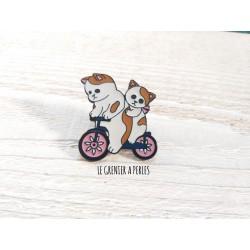 Pin's Chats Cyclistes