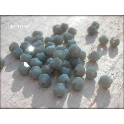 Toupies 4 mm Gris Bleu Opaque X 50