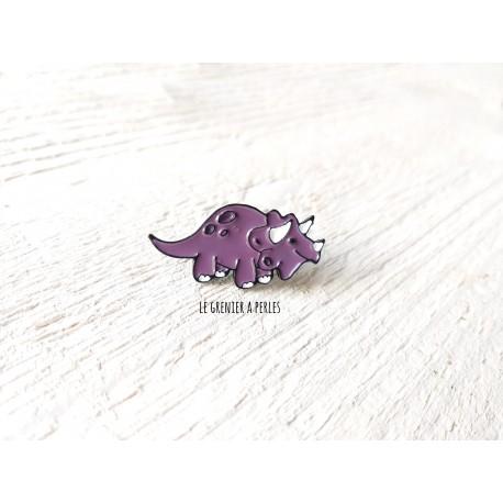 Pin's Dino mauve * Pin's en émail